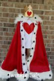 Your little ones will look like absolute royalty in this Queen or King of Hearts Costume! Queen Costume has 3 layers of tulle to make it extra fluffy and full, top of dress is made with a crochet elas