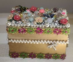 Decorate Jewelry Box Jewelry Box Decorated With Artificial Pearls  Decorating Pearls