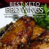 Best Keto BBQ (Barbeque) Wings – Low Carb Sugar Free - 1/4 recipe, 4g net carbs