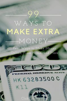 Looking for ways to make extra money but don't know how? Whether it's making money online or your own side job, here are 99 ideas for getting started. Make Easy Money, Ways To Save Money, Money Tips, Money Saving Tips, Mo Money, Earn Money From Home, Earn Money Online, Online Jobs, Online Income
