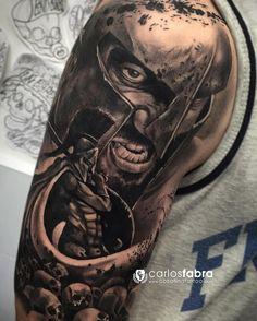 """1,587 Likes, 13 Comments - Carlos Fabra CosaFina tattoo® (@carlosfabra_cosafina) on Instagram: """"300 💪🏻 Un Tattoo especial para mí por la historia que lleva detrás. Para mí es un gran orgullo ver…"""""""