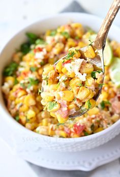 The best and easy Mexican Street Corn Salad is the perfect side dish you can try for taco night, Cinco de Mayo or anytime you crave for Mexican street food. This salad is classic Elote but served in a cup or bowl, made with fresh or canned corn, creamy sauce ( with mayo or no mayo), spices, lime juice, cilantro and cotija. Just the perfect Summer BBQ recipe you can try. #savorybitesrecipes #mexicanstreetfood #corn #cornonthecob #Elote #recipe #summer Mexican Street Corn Salad, Mexican Street Food, Side Dishes Easy, Side Dish Recipes, Recipe Generator, Grill Plate, Canned Corn, Corn Salads, Frozen Corn