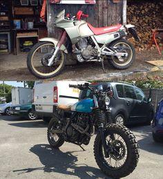 #Honda #NX650 #Brats #Scrambler #Custom #Motorcycle