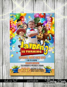 Toy story invitation woody toy story invitation photo by Wimbsy