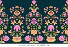 Find Seamless Traditional Indian Motif stock images in HD and millions of other royalty-free stock photos, illustrations and vectors in the Shutterstock collection. Textile Pattern Design, Baroque Pattern, Textile Patterns, Textile Prints, Indian Illustration, Pattern Illustration, Stock Flower, Flower Frame, Boarder Designs