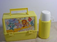 Plastic Lunchboxes with Thermos.  Complete warm fuzzy flashback included in this pic for me.  So retro...  #80s