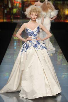 Natasha Poly at Christian Dior Haute Couture Spring 2009 by John Galliano.