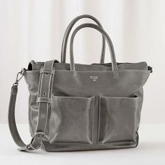 You don't have to sacrifice style in a diaper bag to have more space. Our exclusively designed Matt & Nat Diaper Bag has lots of both. It even doubles as a tote. Bag is made of faux leather.