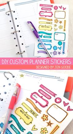 How To Make Planner Stickers With A Cricut Cricut Planner - How to make custom die cut stickers