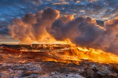 Feel the heat - The mud pools and steam vents on the southwest part of Reykjanes, Iceland.  Photography by Valeria Sig
