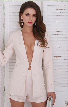 bdcb51fa51ca Two Piece Blazer Set. Long BlazerBlazer And ShortsShort SuitSuits For  WomenClothes ...