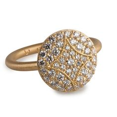 Style YRPAWD, YG Pave Aladdin Disc Ring with diamonds, $3,410 Jamie Wolf - Very cool and different!
