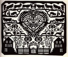 In Switzerland, there is a small museum which exhibits paper cut work by two paper-collage artists; Johann-Jakob Hauswirth and Louis-David S. Paper Cutting, Cut Paper, Art Tribal, Sharpie Pens, Paper Artwork, Paper Artist, Kirigami, Paper Quilling, Belle Photo
