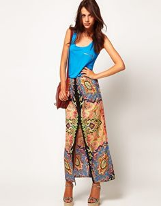 Enlarge Warehouse Paisley Maxi Skirt