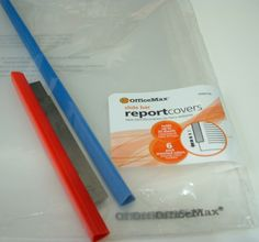 report page slider from Office Max to hold tissue blade