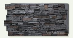 The Dry Stack stone veneer style of panels and siding is gorgeous, cost-effective and easy to install to energize the look of any interior or exterior. Faux Stone Walls, Stone Accent Walls, Slate Stone, Stone Veneer Siding, Stone Veneer Panels, Stacked Stone Panels, Rock Tile, Dry Stack Stone, Waterfall House