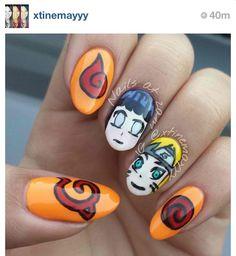 Love NaruHina! Love these nails!