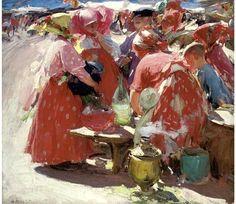 Arhkipov, Abram (1862-1930) - At the Market (Christie's London, 2006) by RasMarley, via Flickr