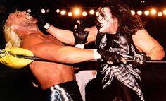 Sting attacks nWo member Hollywood Hulk Hogan at WCW Starrcade, December World Championship Wrestling, World Heavyweight Championship, Sting Wcw, Eric Bischoff, Lex Luger, Kevin Nash, Roddy Piper, Lucha Libre