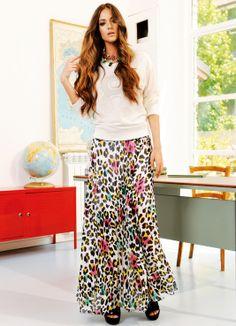 Maxi falda print de Relish