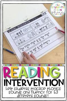 Reading Intervention - Phonics Sounds
