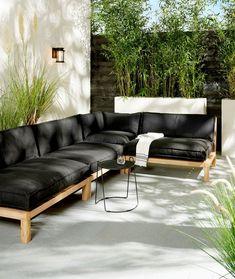 backyard designs – Gardening Ideas, Tips & Techniques Outdoor Garden Furniture, Deck Furniture, Outdoor Rooms, Outdoor Living, Furniture Design, Garden Seating, Outdoor Seating, Patio Ideas Townhouse, Sofa Lounge