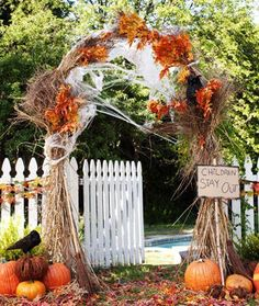 This would be great for our wedding...minus the cobwebs and 'Children stay out' sign... :)