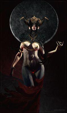 ArtStation - Pale Sister ( 4 ), Anato Finnstark World Of Fantasy, Dark Fantasy, Fantasy Art, Death God, Black Mage, Alternative Metal, Erotic Art, Great Britain, Cool Art