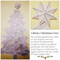 Book tree for inner library door or pillar : Christmas