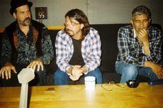 Krist Novoselic, Dave Grohl, & Pat Smear at Steve Albini's studio, Remastering 'In Utero', 2013