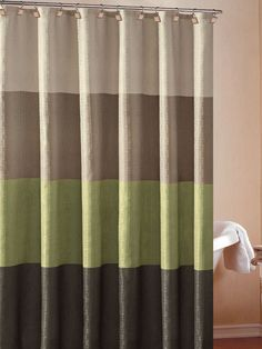 Zen Floral Sage Green Brown Tan Ivory Quality Luxury Fabric Shower ...