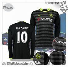 Maillots-Sport: Le Meilleur Du Nouveau Maillot Chelsea Manche Longue Hazard 10 Exterieur 2016 2017
