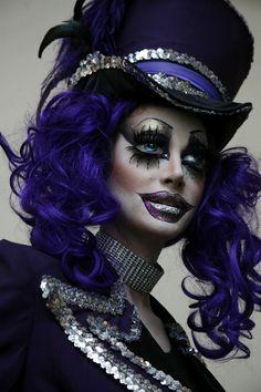 Halloween Eye Makeup Ideas | Glam Clown Doll for Halloween » Eyeshadow Lipstick