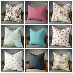 floral pillow, magenta pillow, pink floral pillow, aqua pillow, turquoise pillow, star pillow, star cushion, navy pillow, mothers day gift