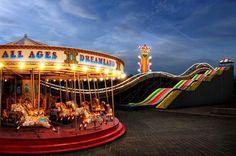 Dreamland, Margate, Kent, England...My painting on gallopers www.kbmorgan.co.uk