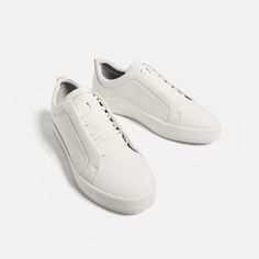 Image 1 of SNEAKERS WITH CONCEALED LACES from Zara