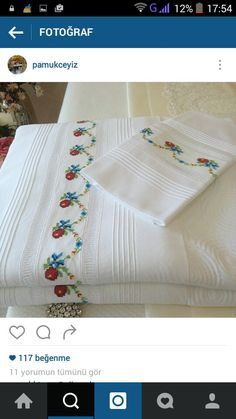 Hand Embroidery Patterns, Machine Embroidery, Embroidery Designs, Table Covers, Bed Covers, Stitch Crochet, Cross Stitch Borders, Textiles, Linen Bedding
