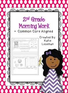 2nd Grade Morning Work: I would use these worksheets and morning work ideas to match up with the thematic unit and to get the day started!