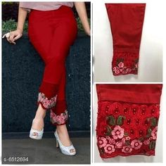 Checkout this latest Leggings Product Name: *Elegant Trendy Women Leggings* Fabric: Cotton Pattern: Embroidery Multipack: 1 Sizes:  28 (Waist Size: 34 in, Length Size: 40 in)  32, 34 (Waist Size: 40 in, Length Size: 40 in)  38 (Waist Size: 42 in, Length Size: 40 in)  42 Easy Returns Available In Case Of Any Issue   Catalog Rating: ★4.1 (3093)  Catalog Name: Casual Fabulous Women Leggings CatalogID_1037634 C79-SC1035 Code: 973-6512694-1701