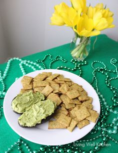 Spinach Avocado Hummus is a smooth, creamy, bright green hummus made with spinach and avocado. Makes a great dip, sandwich spread or topping. Wheat Crackers, Wheat Thins, Avocado Hummus, Sandwich Spread, Pastry Blender, Appetizer Dips, Cooking Time, Gingerbread Cookies, Spinach