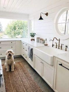 Home Decoration Interior .Home Decoration Interior Home Design, Küchen Design, Design Ideas, White Sink, White White, Room Inspiration, Home Kitchens, Living Room Designs, Kitchen Decor