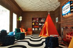 eclectic family room by Janet Paik