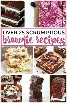 Over 25 of the most Scrumptious #Brownie #Recipes | Great dessert ideas and inspiration for all things brownie! |  dreamingofleaving.com