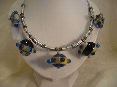 38B Collier clochettes bleu antique 2 | Flickr: partage de photos!