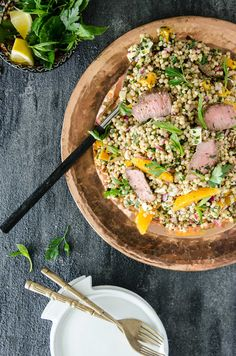 Choosing The Right Knife for the Task   Cous Cous, Pumpkin and Lamb Salad - Chew Town Food Blog