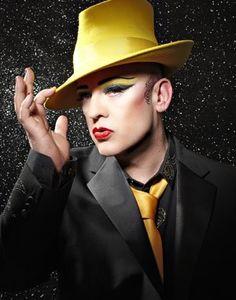 So he's been in some trouble in recent years.he's still a bad man :) Mr. Karma Chameleon himself, Boy George! Boy George, George Hats, Rick Genest, Party Rock, Dita Von Teese, Amy Winehouse, Nicki Minaj, Lady Gaga, Michael Jackson