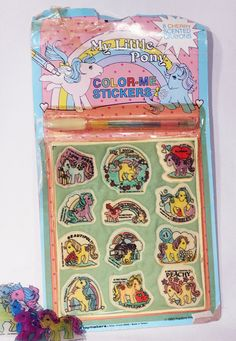 Plastic blister has yellowed, but the original crayon is included and the stickers are not yellowed. Description from etsy.com. I searched for this on bing.com/images
