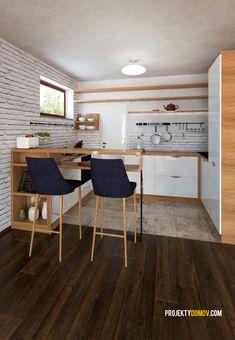 Nízkorozpočtový projekt domu bungalov na úzke pozemky Table, House, Furniture, Home Decor, Type 1, Houses, Decoration Home, Room Decor, Haus