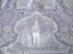 "Magnificent Appenzell Lace Tablecloth, Napoleon's ""Battle of Eylau"" Lace banquet cloth. . ."