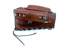 Brass Stacker, Rick Lowe, Mosin Nagant Butt Stock Leather Ammo Carrier 8